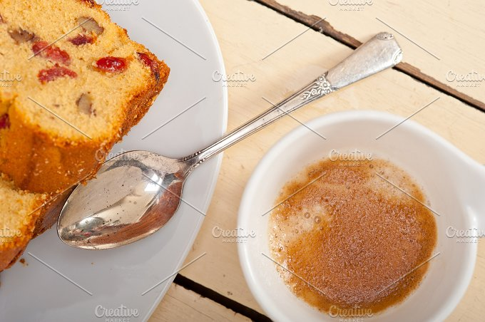 plum cake and espresso coffee 005.jpg - Food & Drink