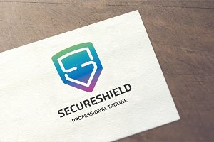 Letter S - Secure Shield Logo