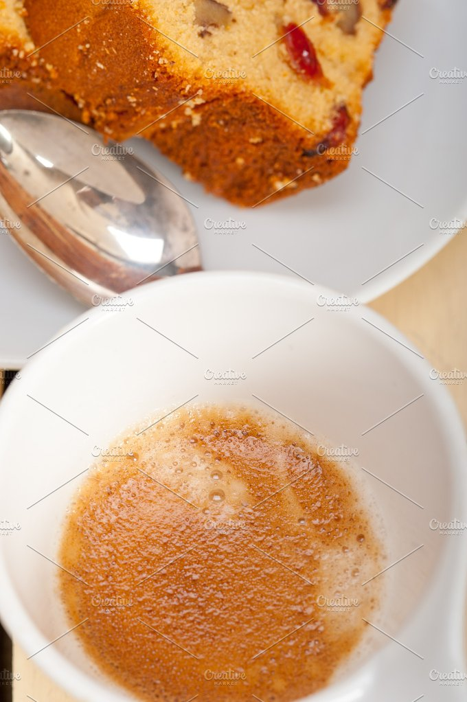 plum cake and espresso coffee 007.jpg - Food & Drink