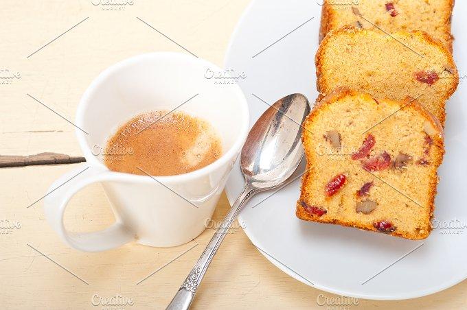 plum cake and espresso coffee 011.jpg - Food & Drink