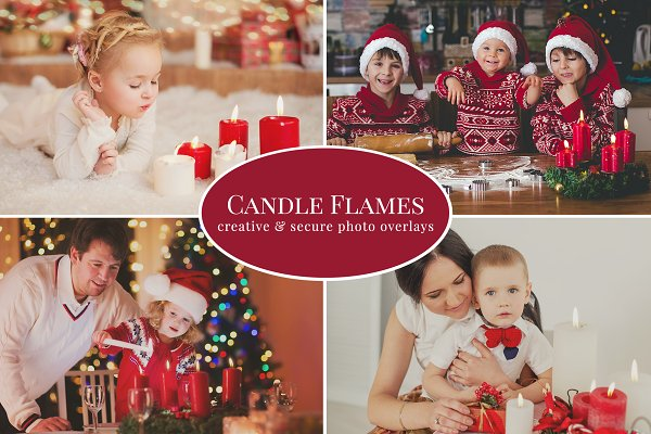 Candle Flames photo overlays