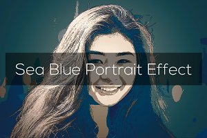 Sea Blue Portrait Effect