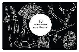 Indian silhouettes elements