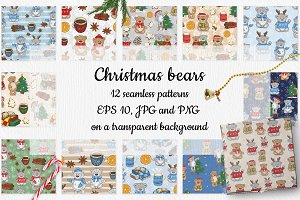 12 patterns with teddy bears
