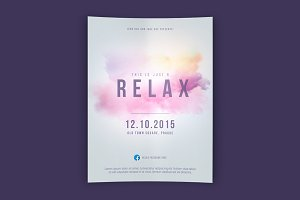 Relax Flyer PSD Template