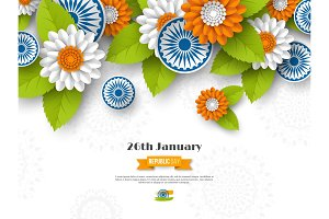 Indian Republic day holiday design.