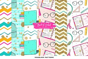 Back to school digital pattern