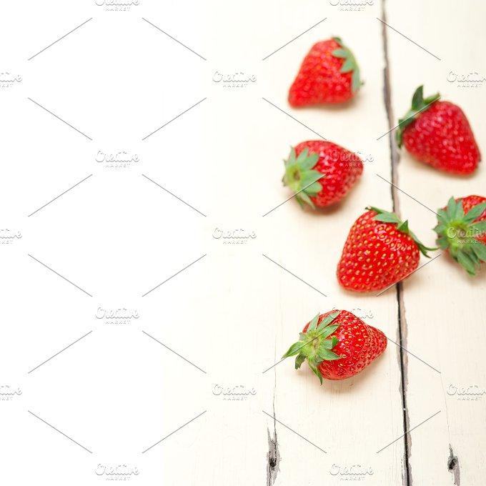 strawberries on white wood table 007.jpg - Food & Drink