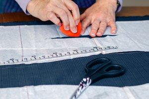 Dressmaker design tailor pattern on