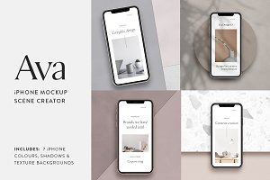 Ava - iPhone Mockup Scene Creator