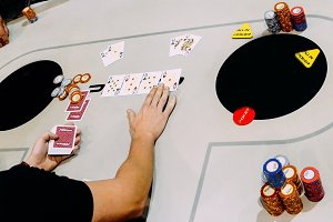 All in Texas Hold 'em Poker Hand