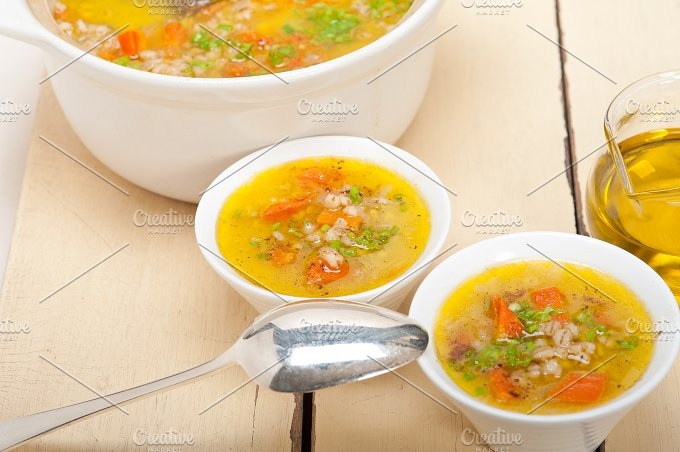Syrian barley broth soup Aleppo style called talbina 031.jpg - Food & Drink