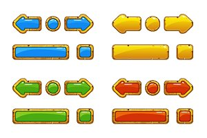 Golds and colors old buttons