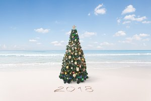 beach x-mas tree