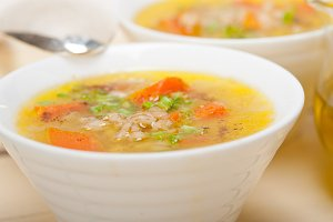 Syrian barley broth soup Aleppo style called talbina 046.jpg