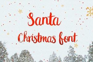 Santa Christmas Font Type