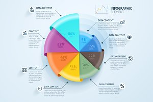 Business Infographics Circle