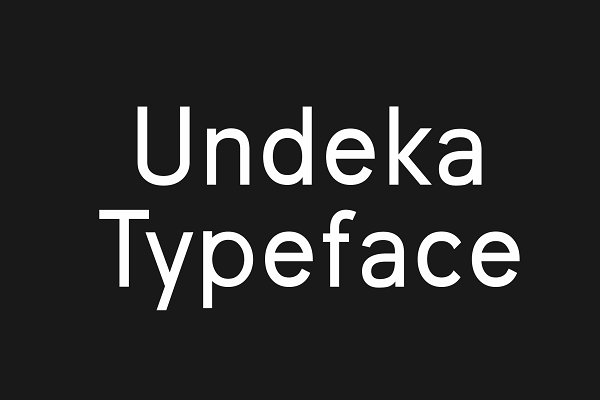 Display Fonts: Bolderaja1 Studio - Undeka San Serif Font
