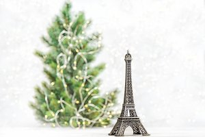 Eiffel Tower Christmas tree decor