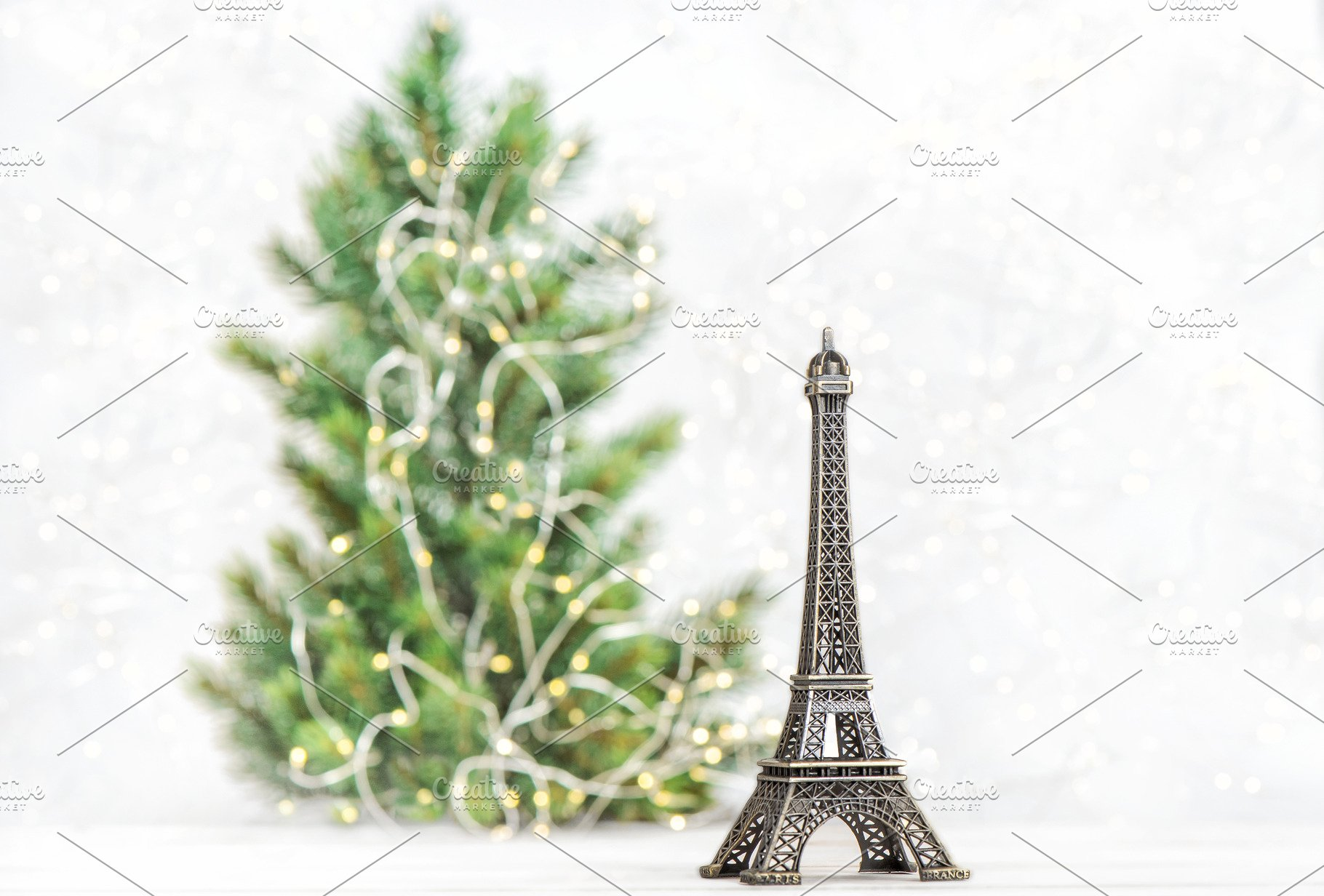 Save. Eiffel Tower Christmas tree decor