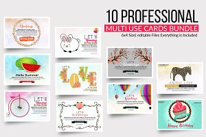 Multi Use Card Psd Template Bundle