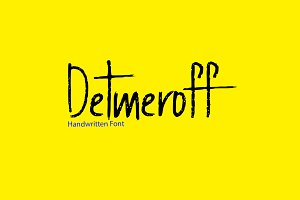 Detmeroff - Handwritten Display Font