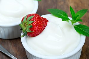 organic Greek yogurt and  strawberries 007.jpg