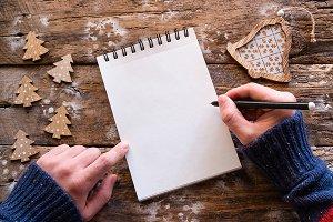 writes christmas letter