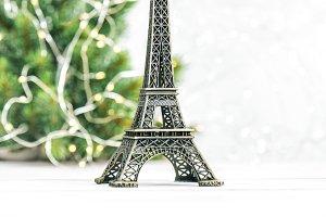 Eiffel Tower Christmas tree decorati