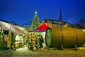 European Christmas market square
