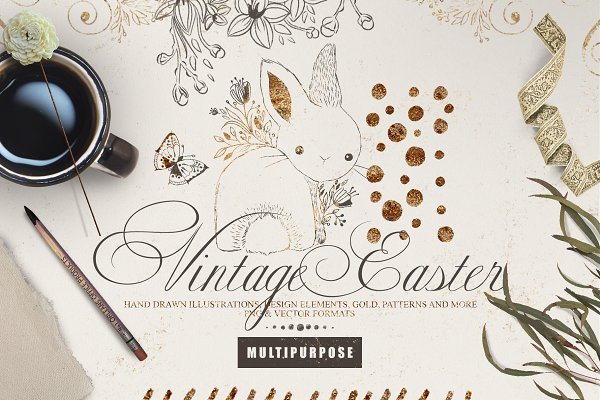 Illustrations: Principesca - Vintage Easter Multipurpose Kit