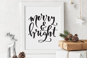 Merry and Bright Printable Art