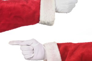 Two Santa Hands Pointing