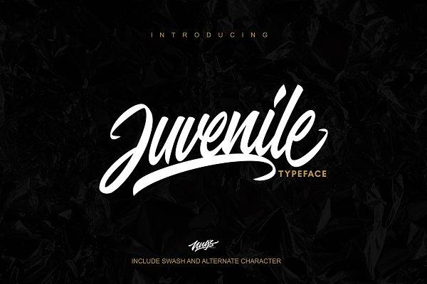 Script Fonts - Juvenile Typeface