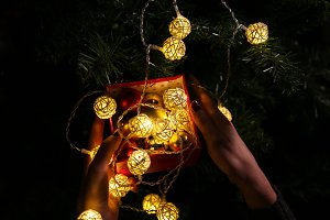 Decoration, New Year garlands