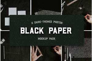 Black Paper Mockup Photo Pack