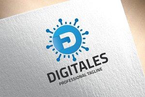 Letter D - Digitales Logo
