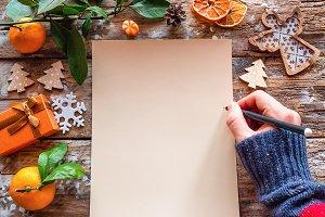 writes a christmas letter mockup