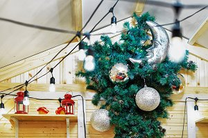 Stall with Christmas tree decoration
