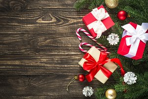 Christmas present box and