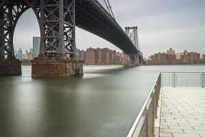 Williamsburg bridge from the pier