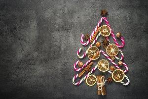 Creative christmas fir tree made