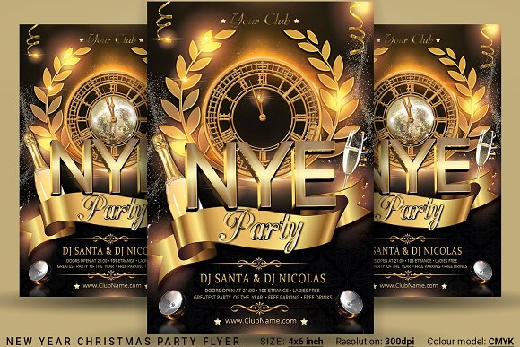 new year party flyer flyers