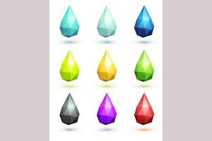 Set of stylized drops.