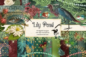 Lily Pond Digital Scrapbooking Kit