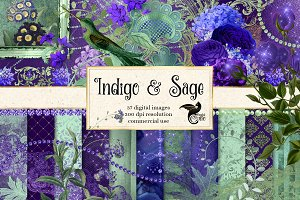 Indigo and Sage Graphics