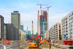 Construction site in Frankfurt
