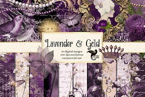 Lavender and Gold Graphics