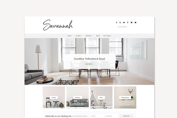 Responsive WordPress Theme, Savanna…