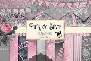 Pink and Silver Graphics